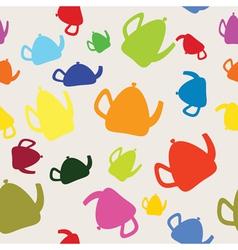Seamless coloureds kettles vector