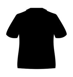 Shirt silhouette isolated icon vector
