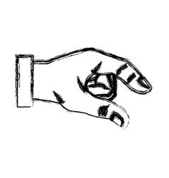 Sketch hand man business gesture icon vector