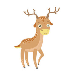 spotted reindeer cute toy animal with detailed vector image vector image