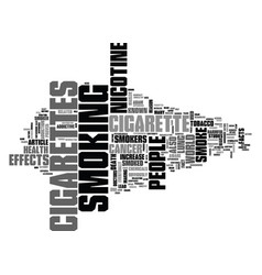 Why do people smoke cigarettes text word cloud vector