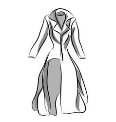 woman coat vector image vector image