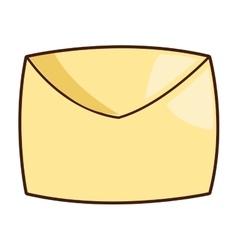 cartoon envelope icon vector image