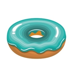 delicious sweet donuts icon vector image