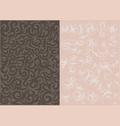 curls pattern background - pattern vector image