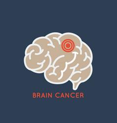 Brain cancer logo icon design vector