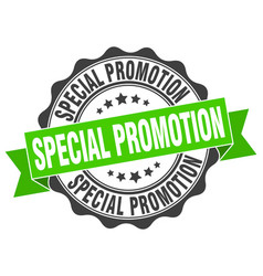 Special promotion stamp sign seal vector