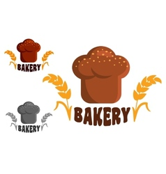 Bakery logo or emblems vector image