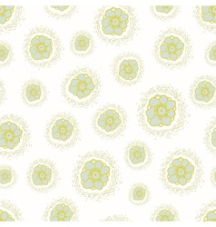 Ditsy pattern with small flowers on a white vector