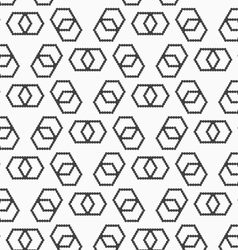Flat gray with hexagonal infinity shaped vector