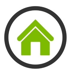 Home flat eco green and gray colors rounded vector