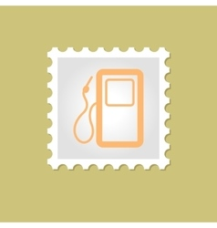 Gas station stamp vector