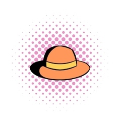 Hipster hat comics icon vector