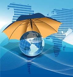 texture globe vector image