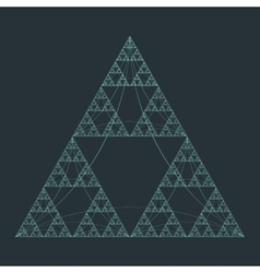 Triangle geometry fractal structure background vector