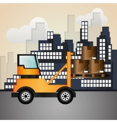 Forklift design  editable graphic vector