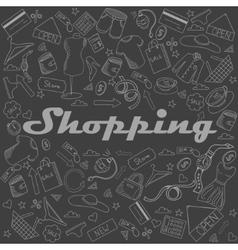 Shopping chalk vector image