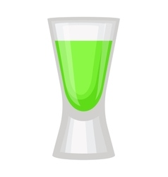 Green alcholol cocktail vector