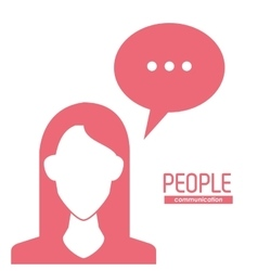 Woman and bubble icon people design vector