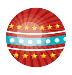 Circus ball colorful isolated flat icon vector
