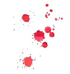 Abstract watercolor aquarelle hand drawn red drop vector image vector image