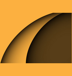 Abstract yellow curve shape luxury vector