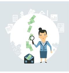 Accountant steals money vector