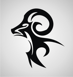 Aries sign tribal vector
