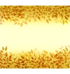 Autumn background branches and leaves vector image vector image