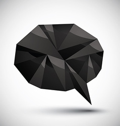 Black speech bubble geometric icon made in 3d vector image