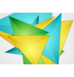 Bright abstract triangles design vector