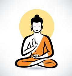 Buddha symbol vector image vector image