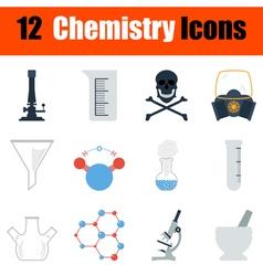 Chemistry icon set vector