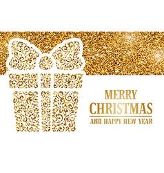 Christmas gold headline vector image vector image