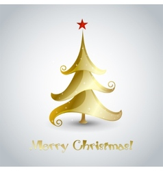 Christmas tree - greeting card vector