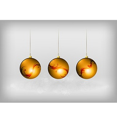 christmass three ball red vector image vector image