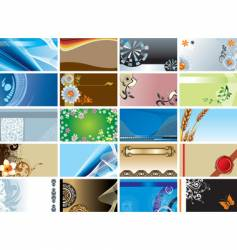 collection of backgrounds vector image vector image