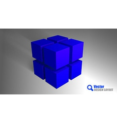 cube blue vector image