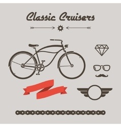 Custom bicycle vector image
