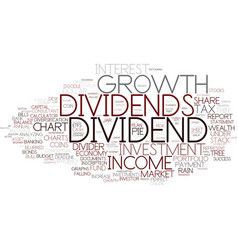 Dividend word cloud concept vector