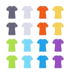 Female colored short sleeve t-shirts templates vector image