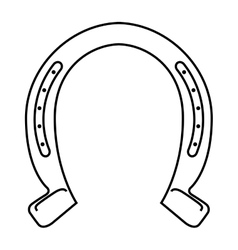 horseshoe luck metal wild west icon vector image vector image