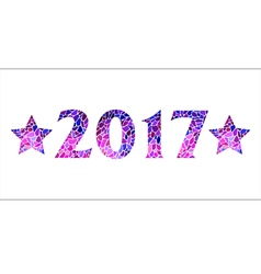 Inscription 2017 with stars vector image vector image