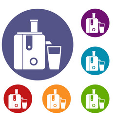Juicer icons set vector