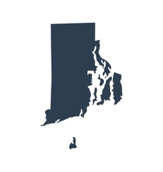 map of the US state Rhode Island vector image