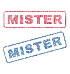 Mister textile stamps vector