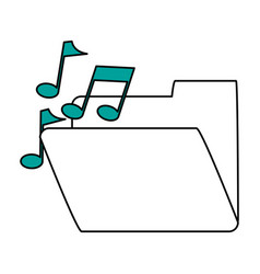 Music playlist folder vector