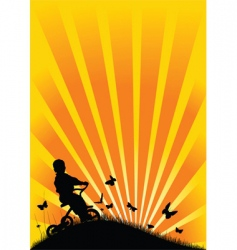 nature bicycle vector image