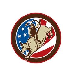 Rodeo cowboy bull riding vector