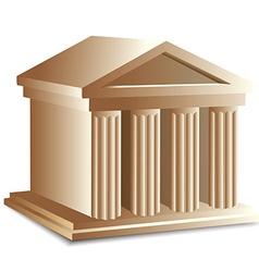 Roman building vector image vector image
